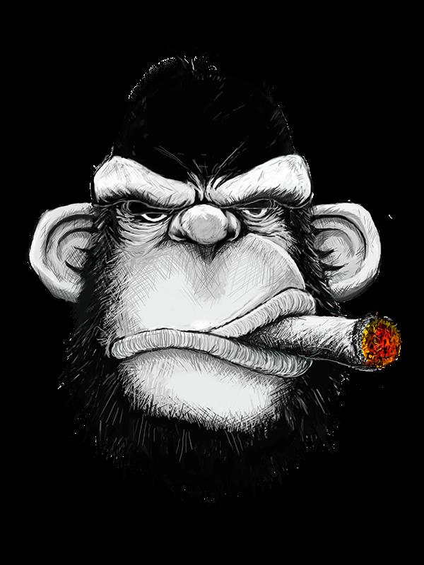 jpg transparent download drawing monkey gangsta #112016784