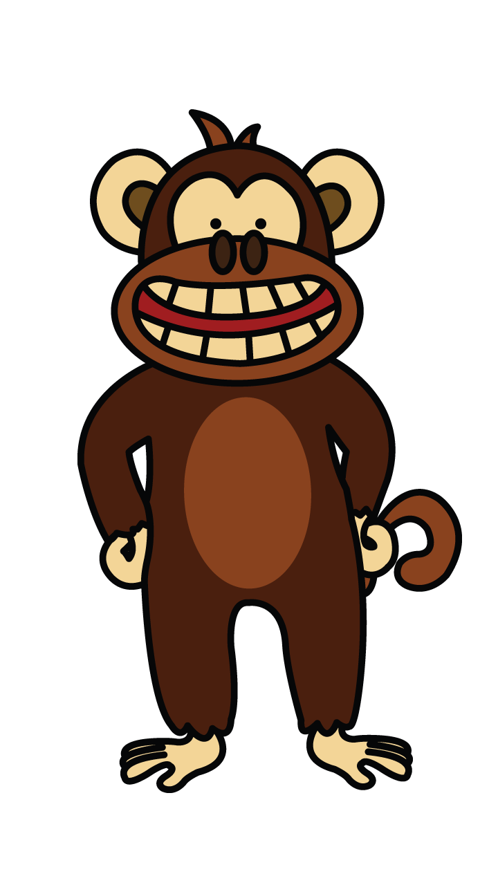 clip art library download How to Draw a Funny Monkey