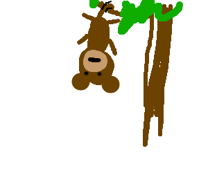 jpg transparent library Monkey Hanging From Tree Drawing at GetDrawings