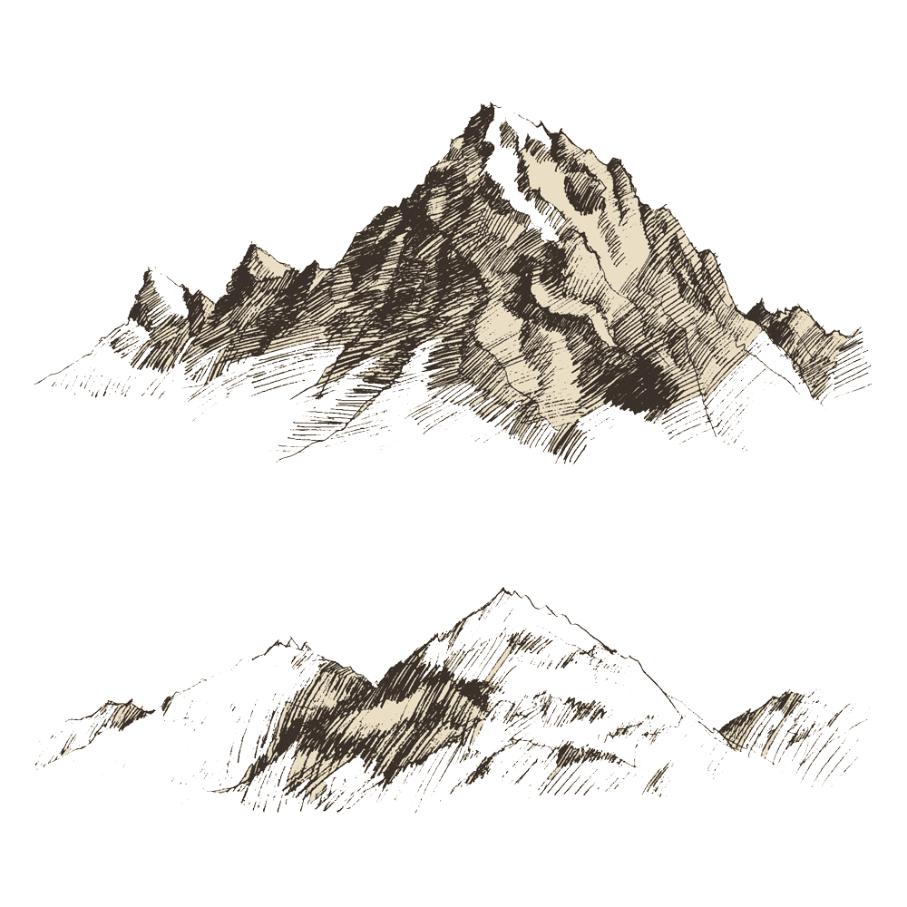 picture royalty free download Drawing Mountain Sketch