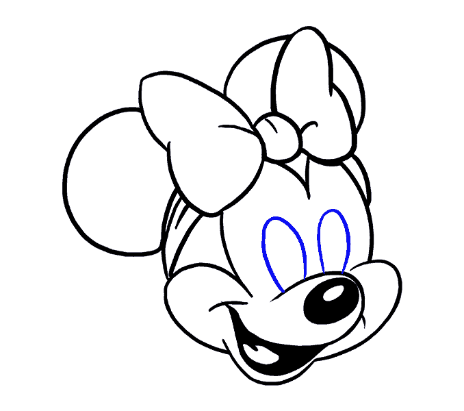 vector free How to draw minnie. Drawing mouse