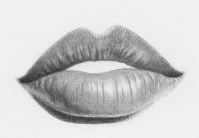 banner library How to draw lips. Drawing smiles black and white