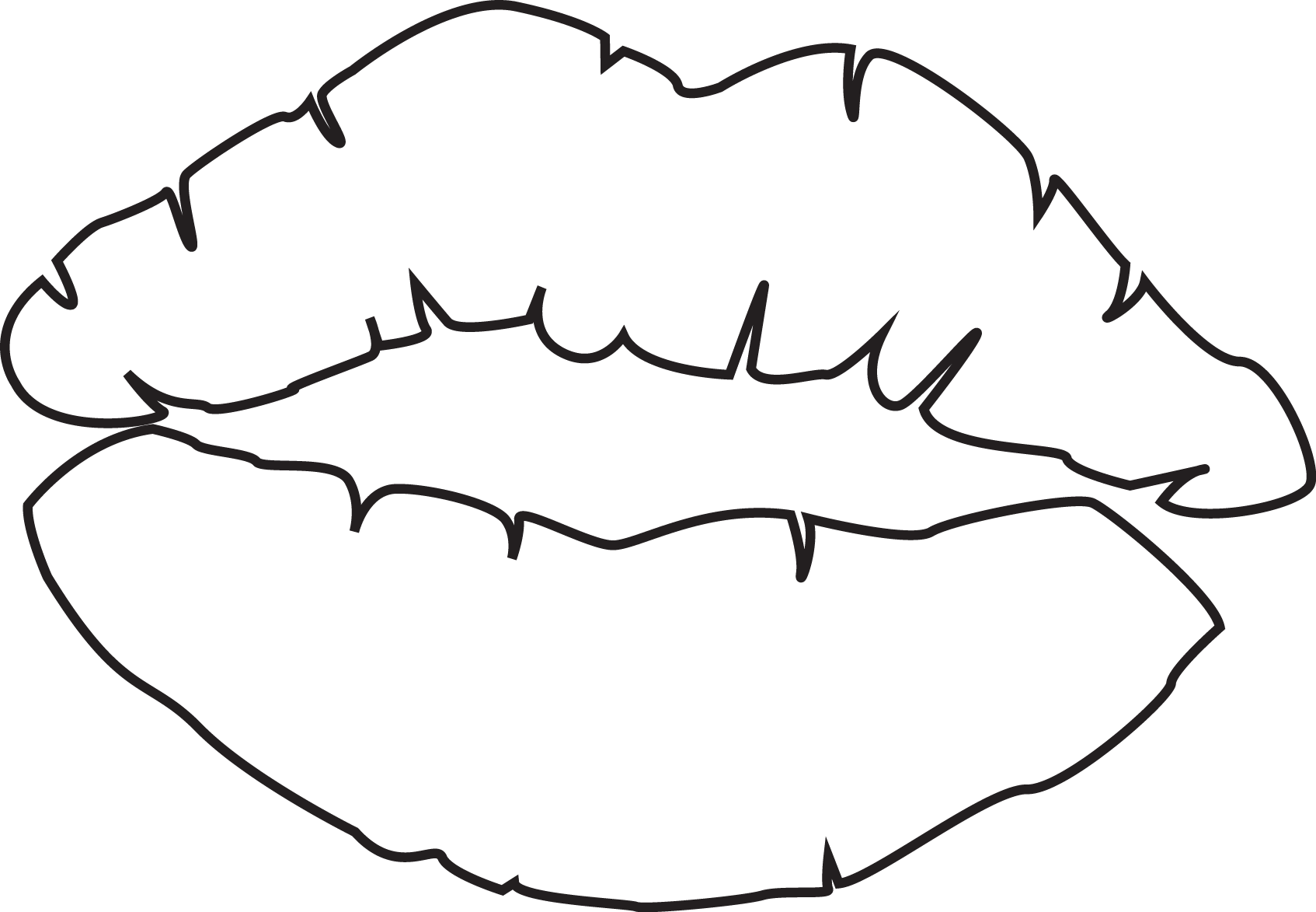 picture freeuse stock line drawing of lips