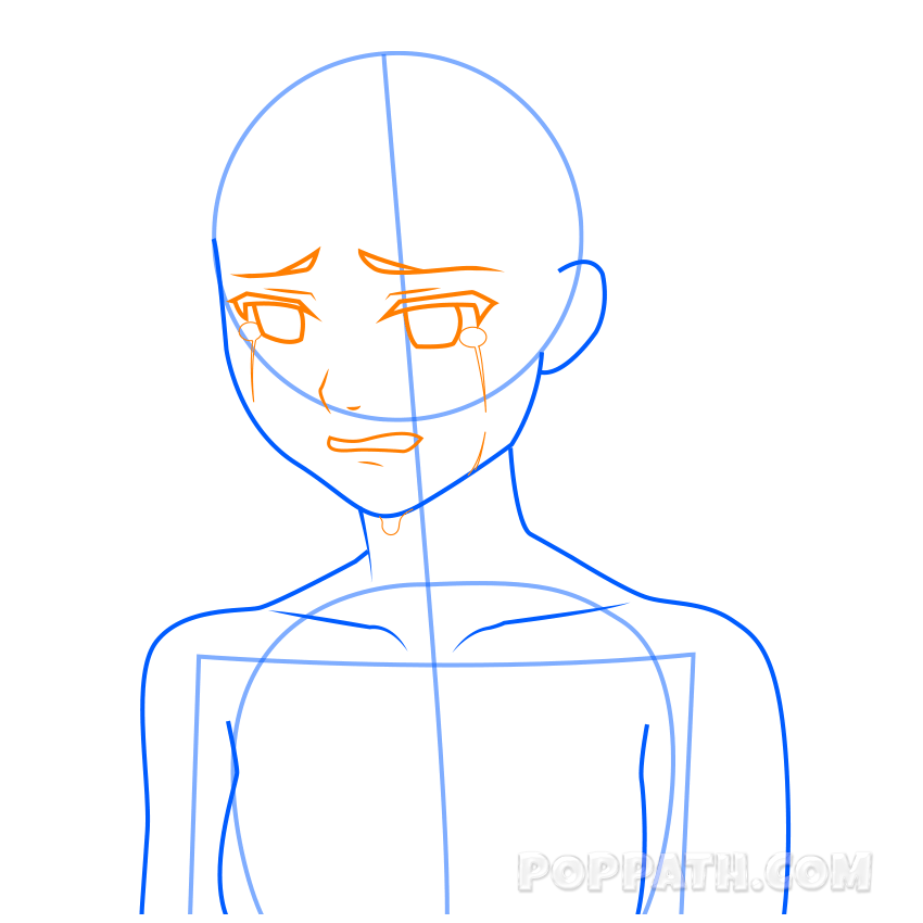 svg freeuse How To Draw A Crying Girl
