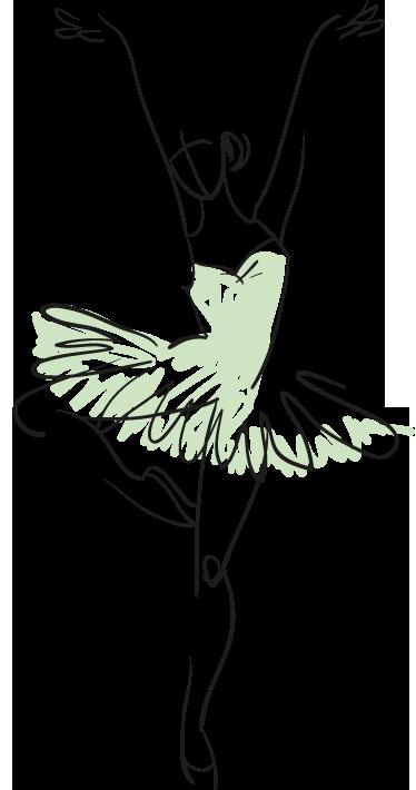 vector freeuse Vinilo decorativo boceto bailarina