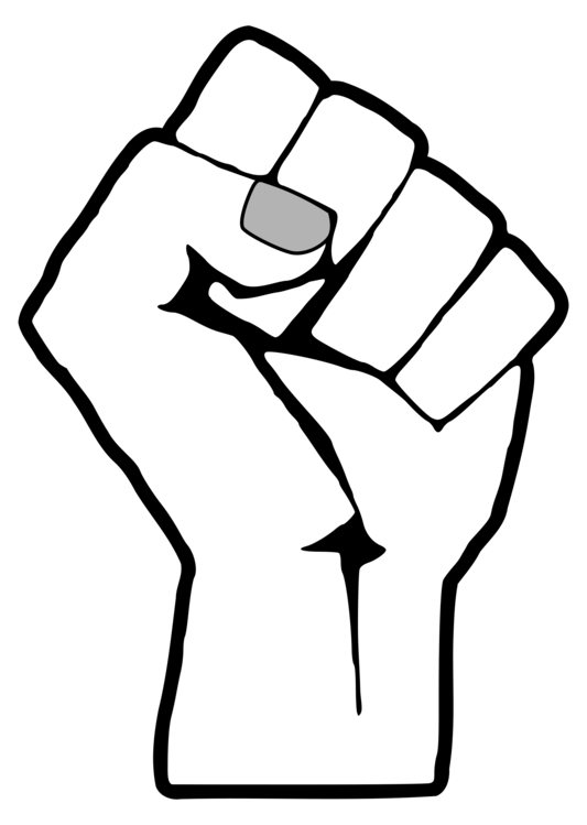 stock Vector fist black panther. Raised united states power