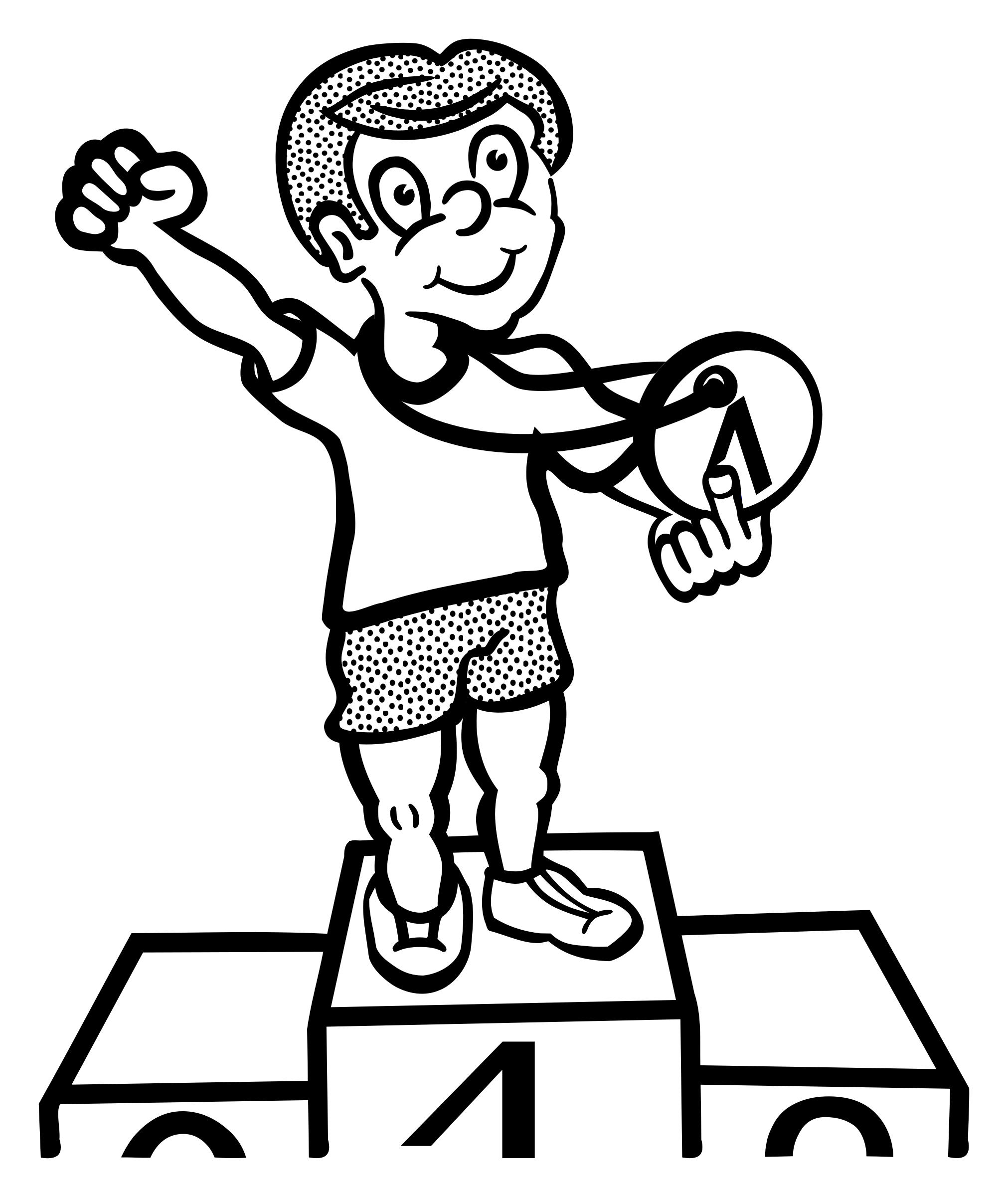 clip art black and white library Winning Drawing at GetDrawings