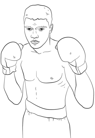 png black and white stock Muhammad Ali coloring page