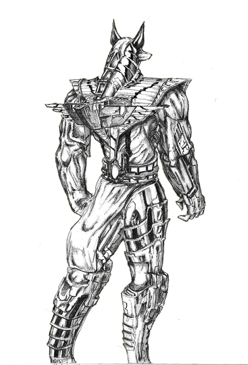 clip art royalty free Anubis warrior by okolawol on DeviantArt