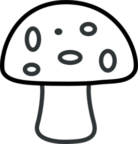 image library stock Black And White Mushroom Clip Art at Clker