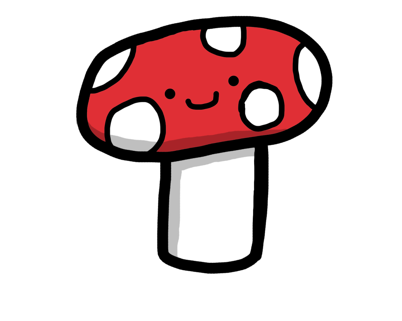 royalty free stock Cute mushroom by Miki