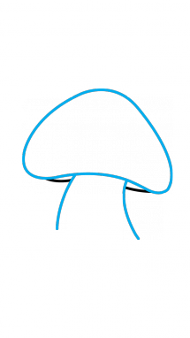clip freeuse library How to Draw a Poisonous Mushroom
