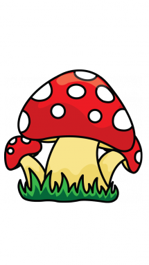 vector free stock How to Draw a Poisonous Mushroom