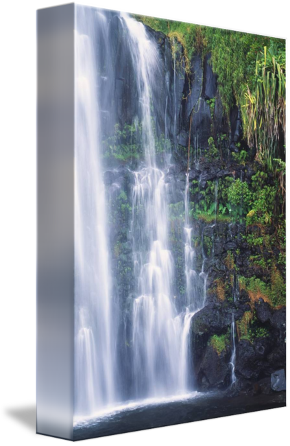 banner Drawing nature waterfall.  waterfalls for free