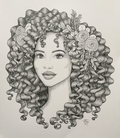 clipart library download Drawing naturally. Original pen ink curly.