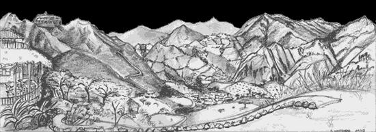 clipart transparent library Izhcayluma hoster a vilcabamba. Drawing nature mountain