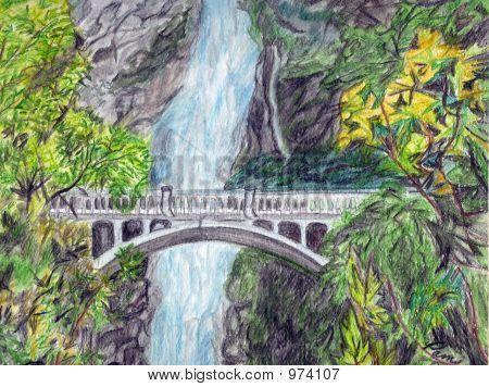 transparent download Drawing nature waterfall. Image cg p c