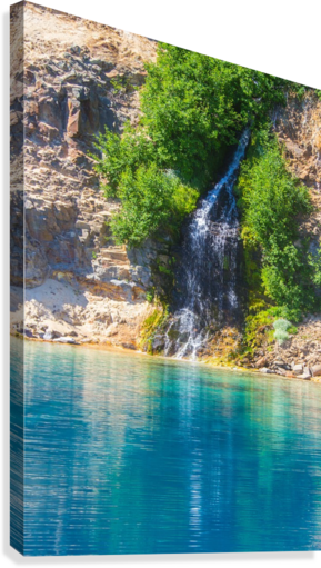 svg free Crater lake john foster. Drawing nature waterfall