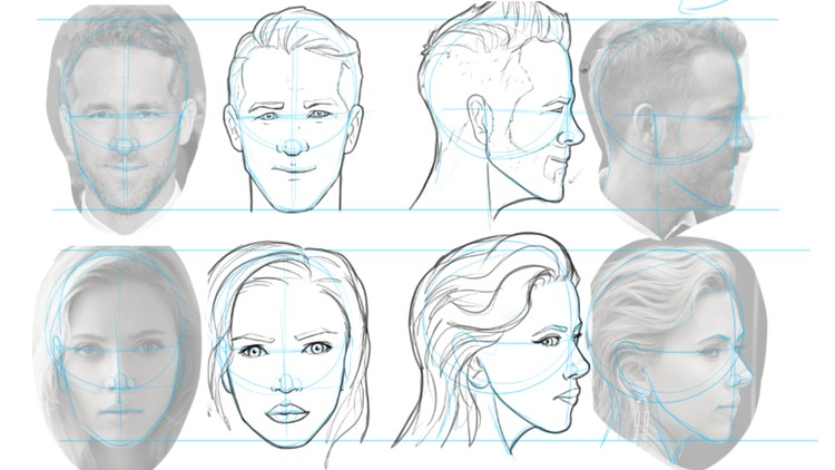 clip royalty free library Drawing neck comic book. Faces structures features and