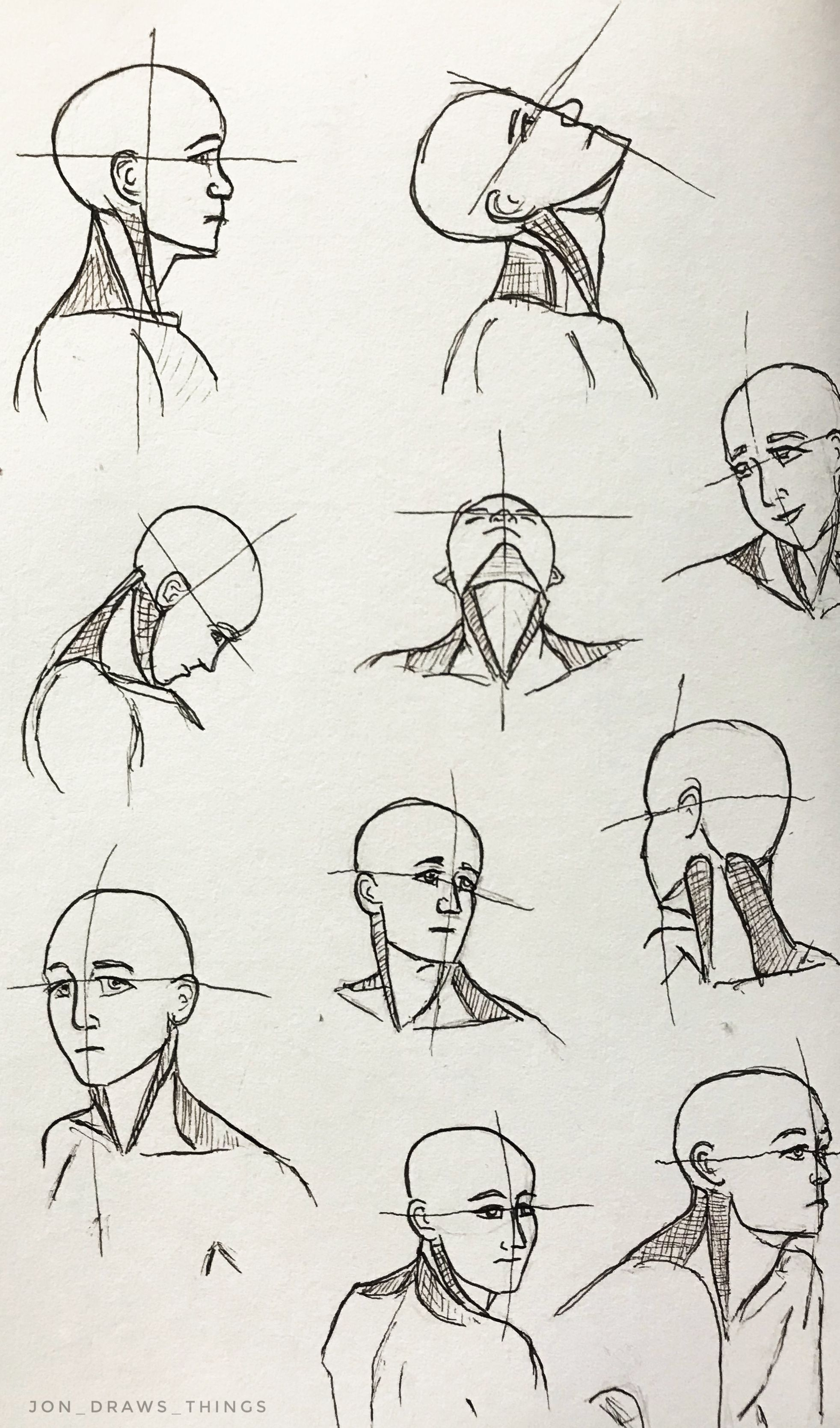 jpg black and white stock Drawing neck head and. Reference by jonathan mcdaniel