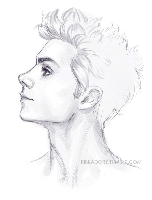 png black and white library Drawing necks man.  neck for free
