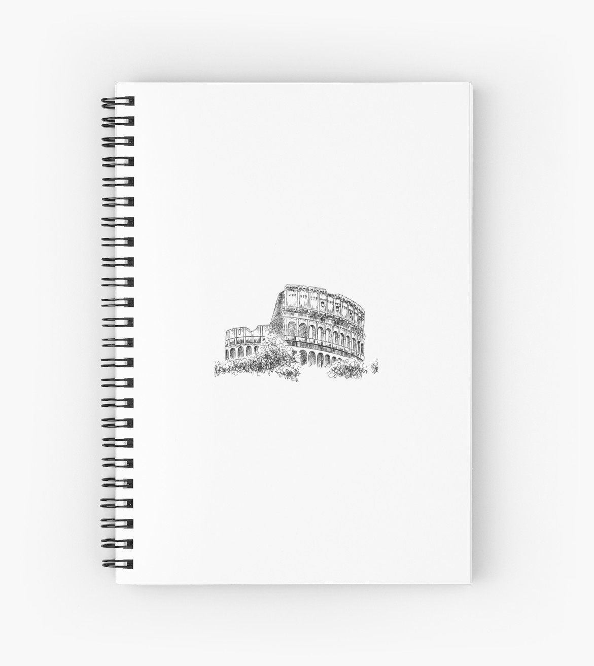 svg stock  colosseum spiral notebook. Drawing notebooks