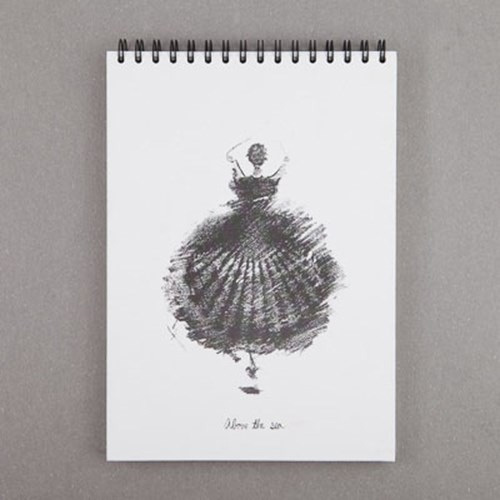 transparent stock Drawing notebooks. Above the sea spiral