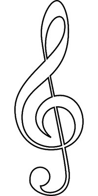 jpg royalty free stock Note drawing. Early play templates music