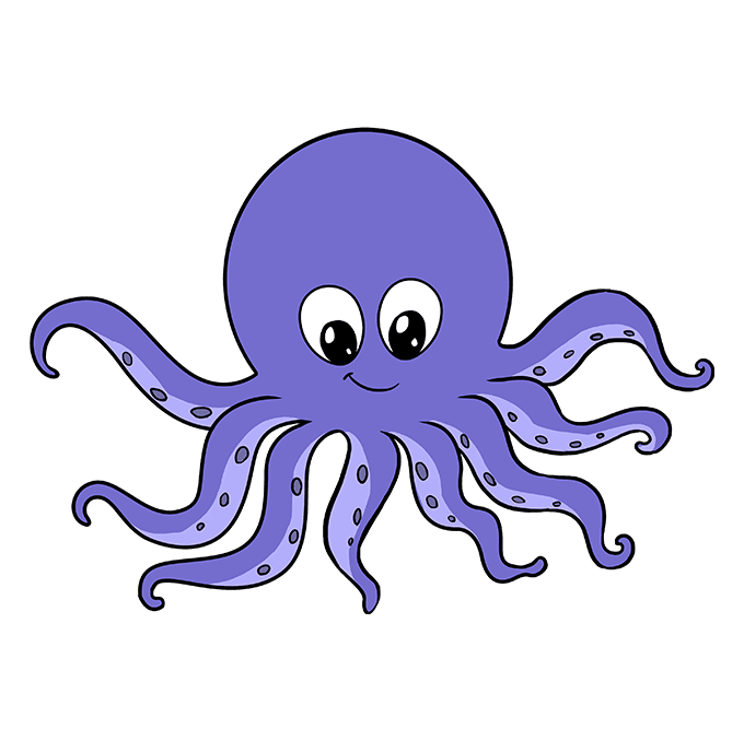 clip art freeuse library Drawing octopus easy. How to draw an