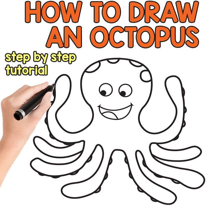 image free download How to draw an. Drawing octopus easy