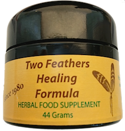 banner freeuse stock Two feathers healing formula. Drawing salves danger
