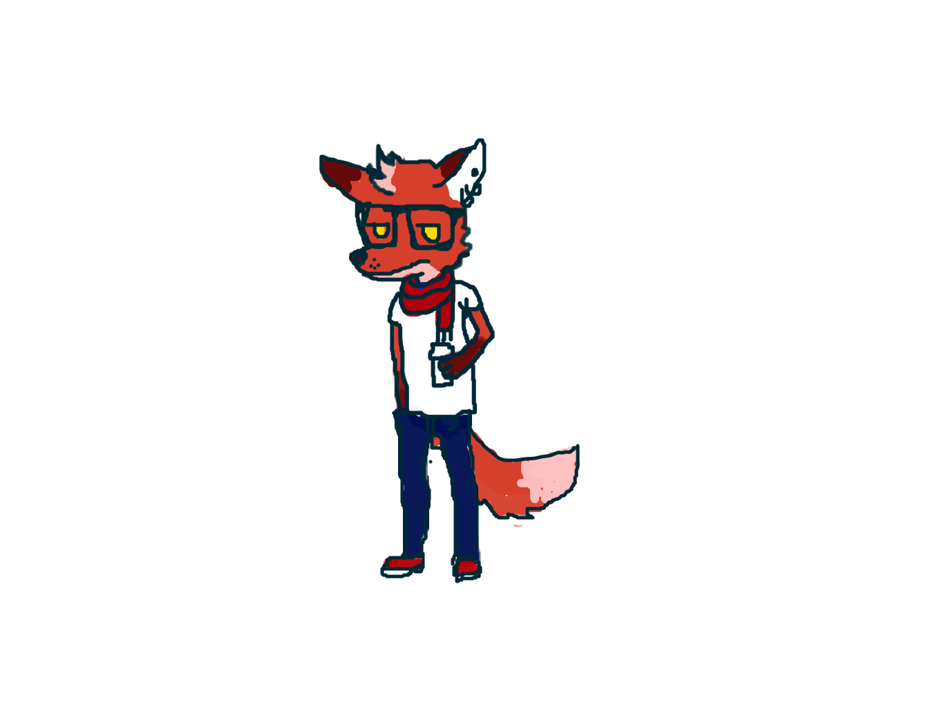 svg freeuse drawing foxes hipster #111844893