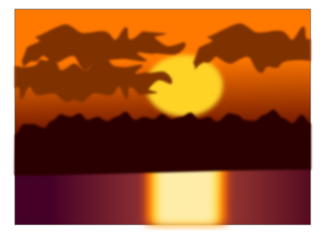 svg free library Collection of free Orange drawing sunset