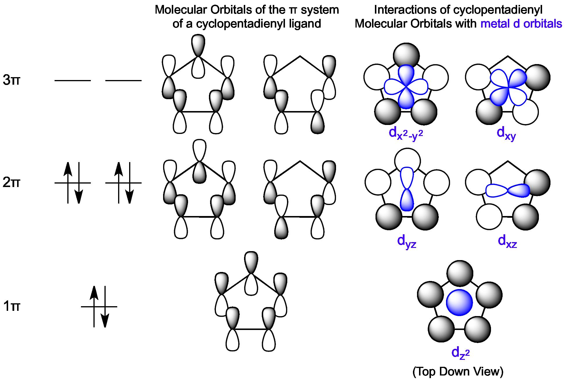 svg library library Interactions between cyclopentadienyl molecular. Drawing orbitals dz2