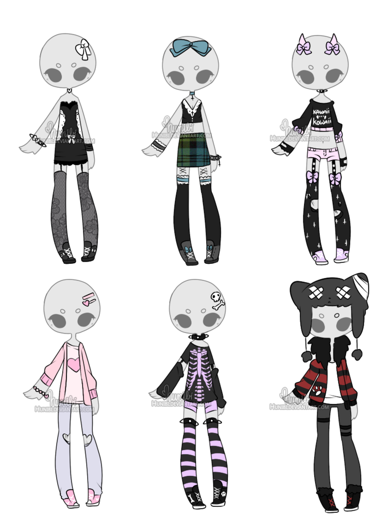 clipart free library Drawing outfits. Art by hunibi on