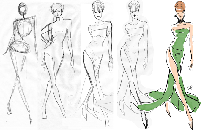 clipart How to draw fashion. Drawing outfits beginner