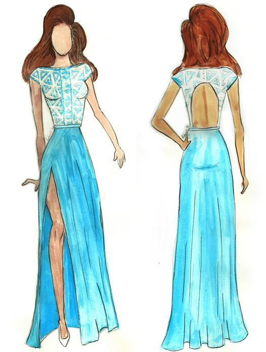 png stock Fashion sketches for beginners. Drawing outfits beginner