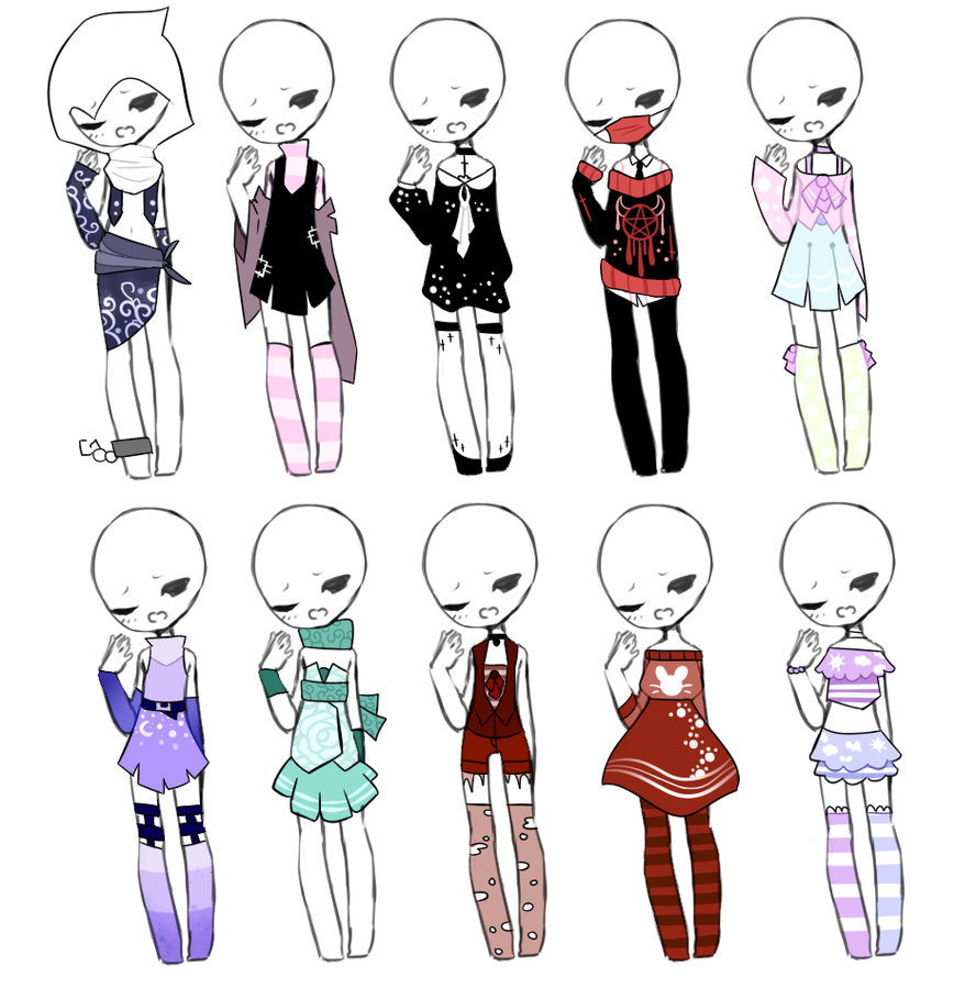 banner transparent Drawing outfits chibi. Hairstyles for your characters