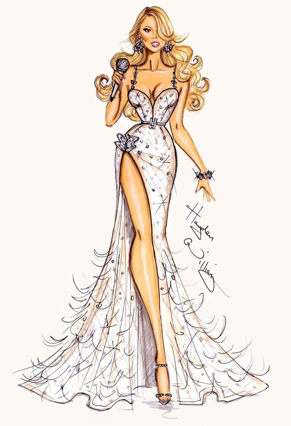 banner freeuse download Glamorous fashion sketches and. Drawing outfits female