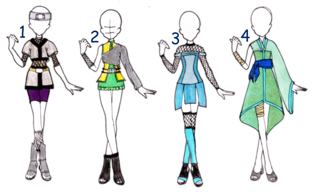 clip royalty free download Naruto outfit adoptables i. Drawing outfits female