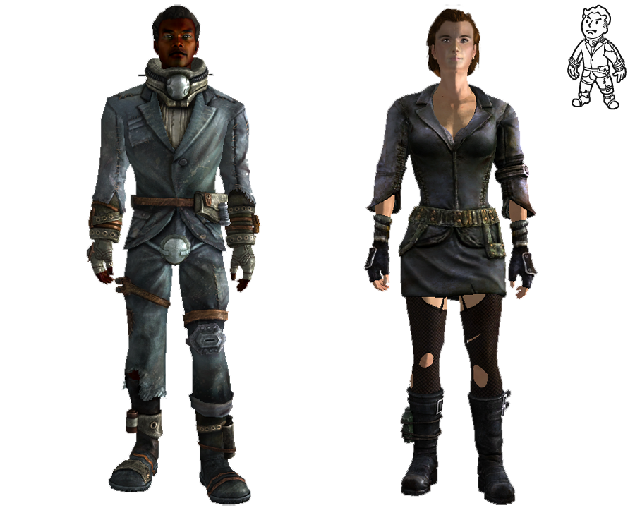 graphic transparent library Merc outfit fallout wiki. Drawing outfits male