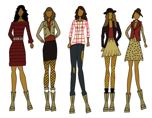 clip art library  for free download. Drawing outfits winter