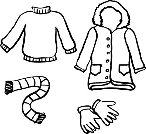 clipart freeuse stock Drawing outfits winter. Clothes at paintingvalley com