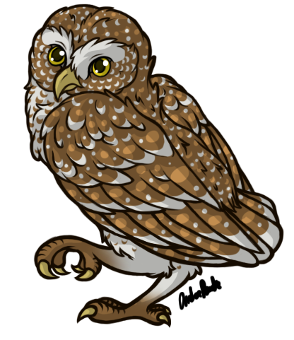 graphic royalty free By reiterei on deviantart. Drawing owl burrowing