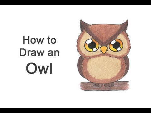 clip download How to draw an. Drawing owl cartoon