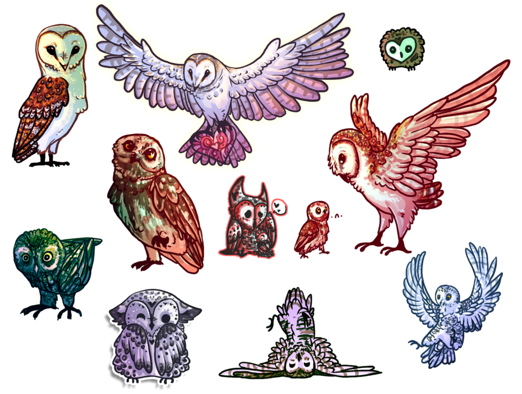 png royalty free library Drawing owl chibi. The army of owls