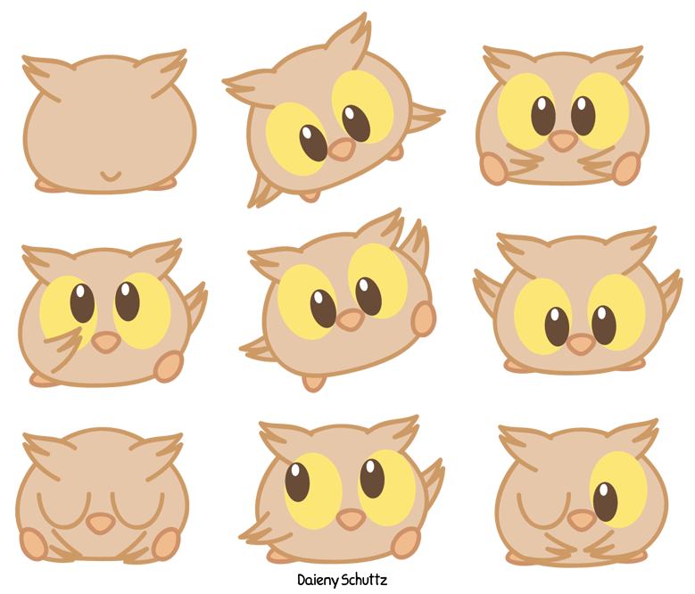 clip library stock By daieny deviantart com. Drawing owl chibi