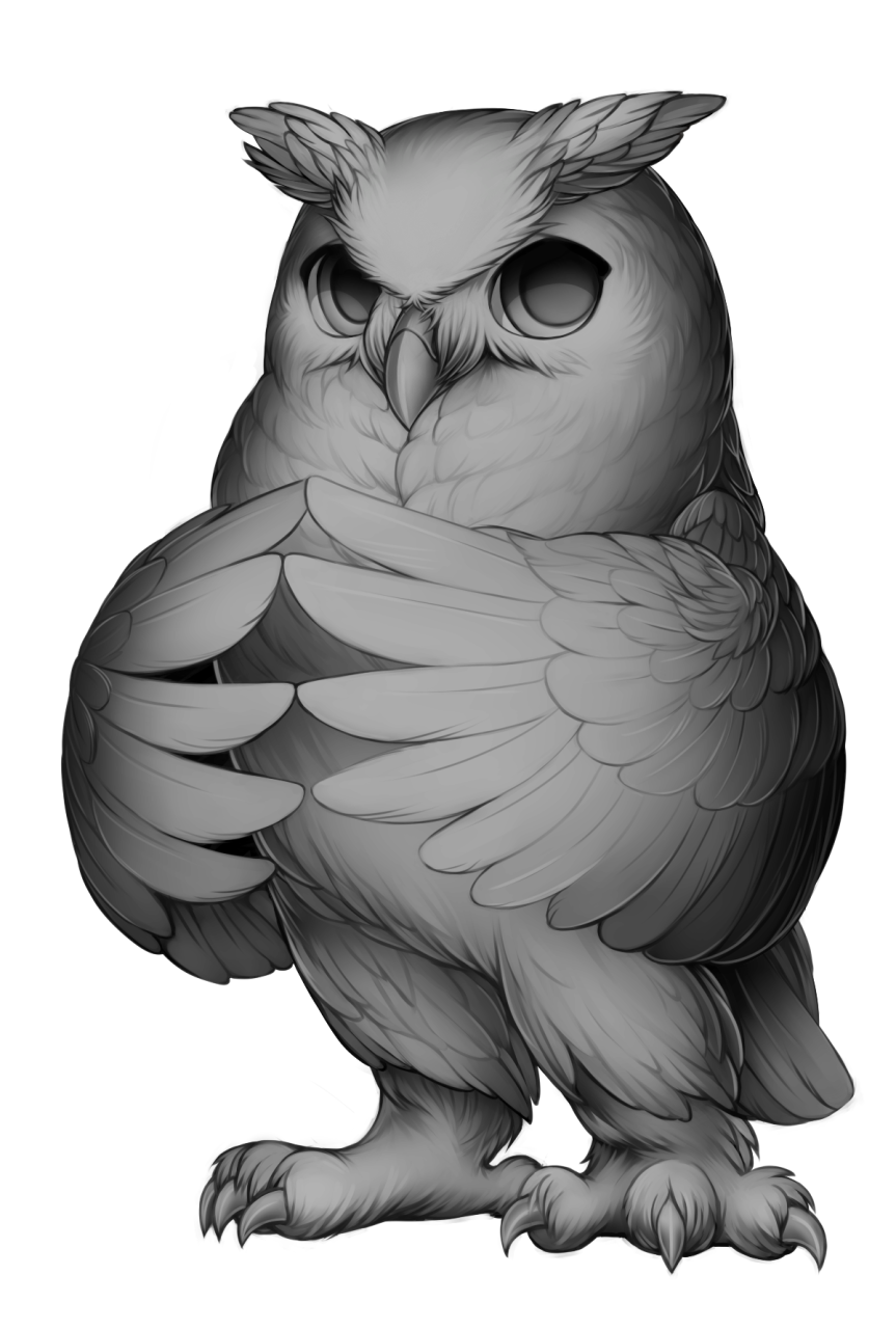 jpg stock Furvilla base by fur. Drawing owl great horned