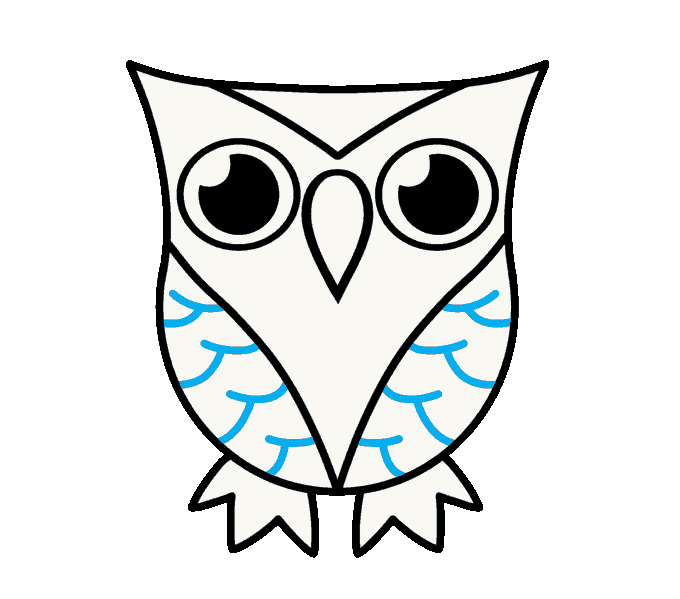 clip library How to Draw a Cartoon Owl in a Few Easy Steps