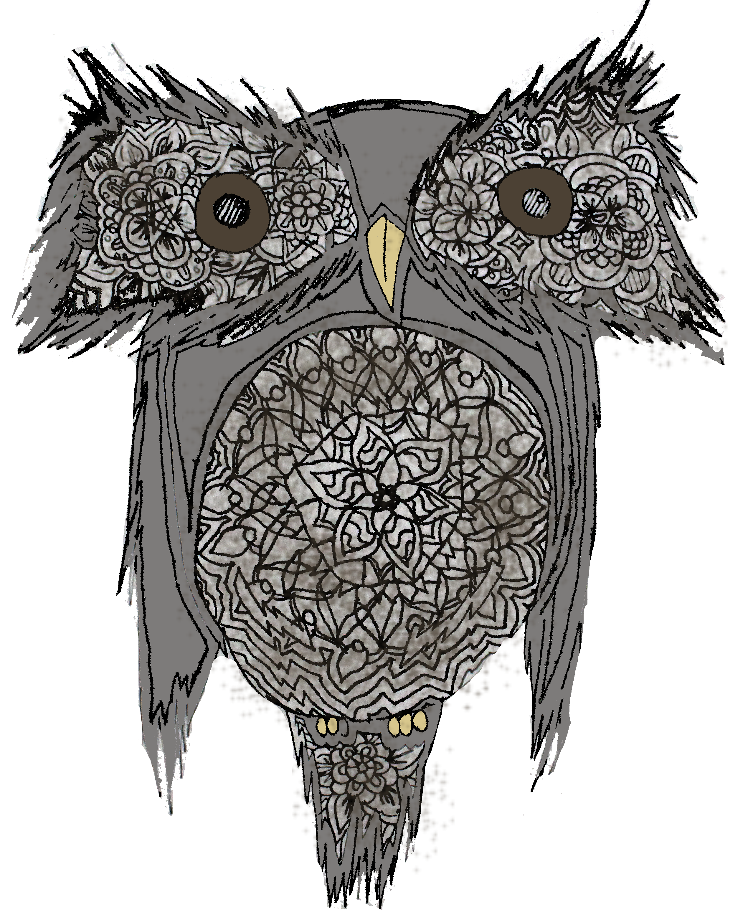 clipart royalty free download Owala brown bird animal. Drawing owl flower